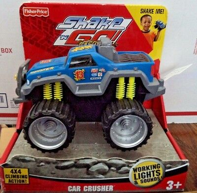 Fisher Price Shake N Go Off Road Car Crusher Lights & Sounds *new*