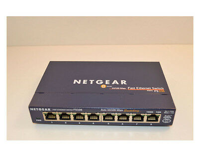 Replacement Netgear FS108 v2 8-Port 10/100Mbps Fast Ethernet Switch UK Seller