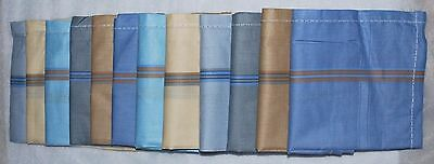 Mens Handkerchiefs 100% Cotton 12 Pack 42 cm Square 6 Light Colour Shades
