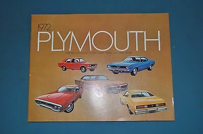 1972 Plymouth Full Line Sales Brochure Canadian NOS Fury Satellite Barracuda