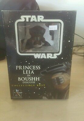 PRINCESS LEIA in  BOUSHH DISGUISE BUST Star Wars Jedi GENTLE GIANT MIB 5000 Made