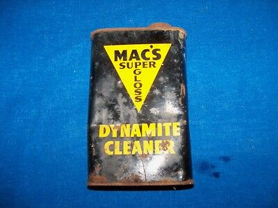 Antique Mac's Coal Mine Mining Dynamite Cleaner Tin Can Hard To Find