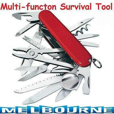 Multifunctional Foldable Army Huntsman Outdoor Survival Camping Tool Swiss Knife