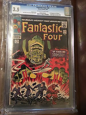 Fantastic Four #49 Cgc 3.5 1st App Of Galactus 2nd Silver Surfer 1st Cover Ever
