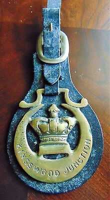 Antique  Horse Brass On Leather Horse, Tack, Equestrian Pagaentry Show