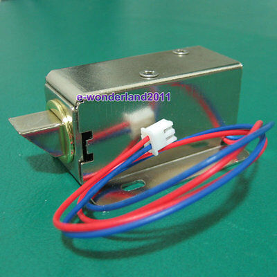 Cabinet Door Electric Lock Assembly Solenoid DC 12V 0.3A FOR Drawer/Sauna Lock