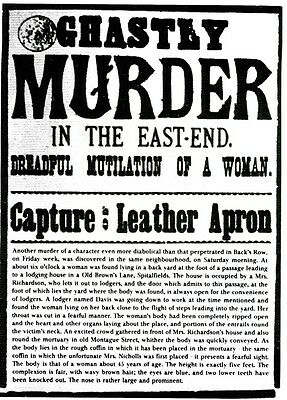 Jack The Ripper wanted poster - quality glossy A4 print
