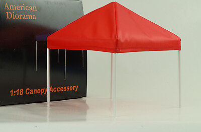 Tent Canoby Set Accessorie Equipment white 1:18 American Diorama without