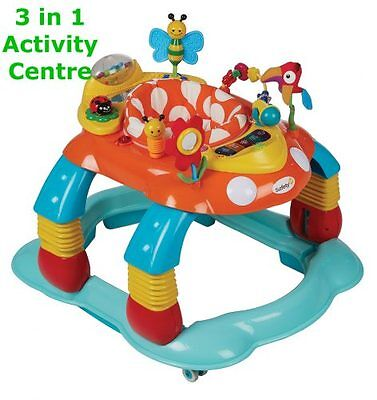 Safety 1st 3in1 Melody Garden Activity Center WALKER BABY GIFT TOYS