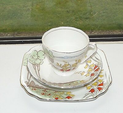 Samuel Radfords  China 1930s Harebell Pattern 6252 Hand Painted Cup Saucer Plate