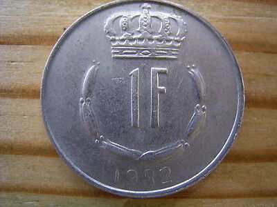 1982  Luxembourg 1 Franc Coin Collectable
