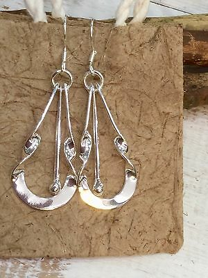 MEXICAN EARRINGS Sterling Silver Plated Alpaca Hand Crafted Fair Trade Gift