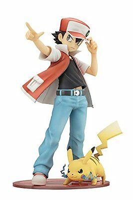 """Artfx J """"Pokemon"""" Series Red With Pikachu 1/8 Scale Painted PVC Figure"""