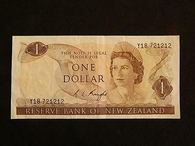 New Zealand $1 Note - R. L. Knight Signature.