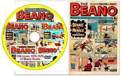 Beano 138 Comics 1976-1979 on DVD - + 10 Beano Books  Dennis the Menace B2
