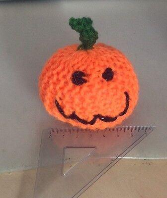 Hand Knitted Catnip Pumpkin - Small - Sold For Whinnybank Cats