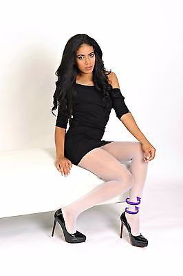 Lady Gloria Support Tights Light Compression 12-15mmHg Sahara Deer Black Sheer
