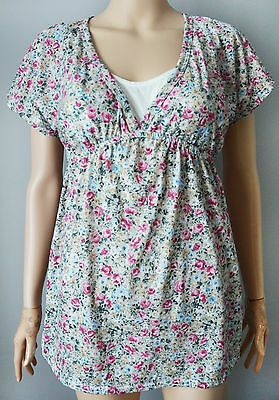 New Blooming Marvellous Mothercare size 6 Maternity Floral Empire Tunic Top