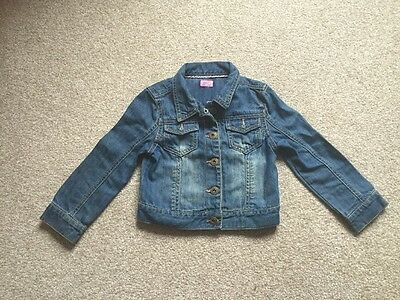 F&f Girls Denim Jacket Age 3-4 Years
