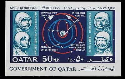 1966 Qatar Space Randezvous Gemini Vi And Vii Schirra Borman Lovell Stafford Ss