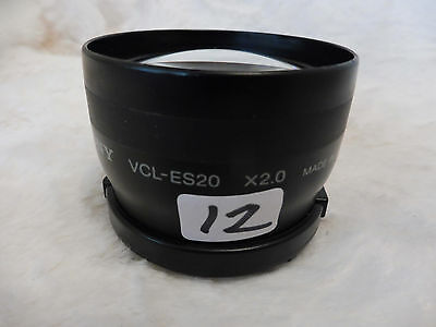 Sony One Touch Tele Conversion Lens VCL ES20 x 2.0 MADE JAPAN
