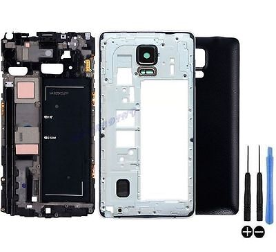 Full Housing Replacement Cover Battery Case Frame Bezel Fr Samsung Galaxy Note 4