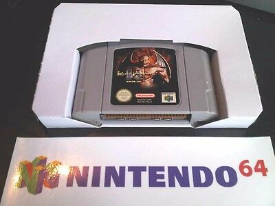 x 1 Nintendo N64 Inlay Replacement Cardboard Insert Game Box Tray NEW