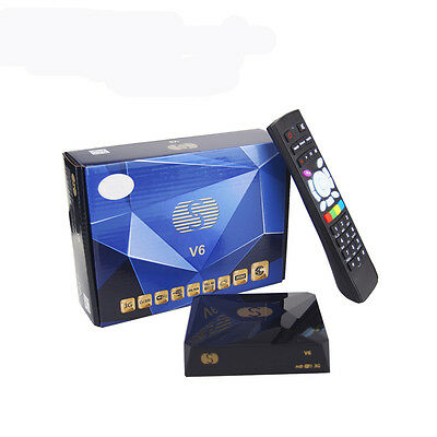 S-V6 Hd Satellite Dvb-S2 Tv Receiver Card Sharing Cccam Newcam Mgcam Biss Key Us