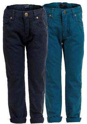 NEW Soul & Glory Boys Trendy Navy / Petrol Blue Coloured Cotton Twill Jeans 3-8y