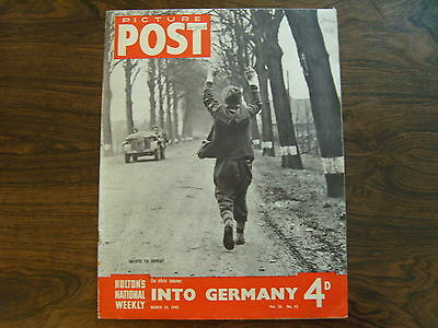 PICTURE POST - 24th MARCH 1945 - Vol. 26  Number 12 - INTO GERMANY