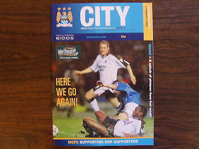 2000/01  MANCHESTER CITY v IPSWICH TOWN  LEAGUE CUP 5th Rd PROGRAMME  19-12-00