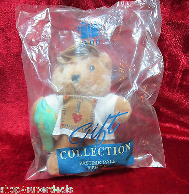 "Avon Gift Collection Pastime Pals I Love Fishing 6"" Teddy Bear New Unopened"