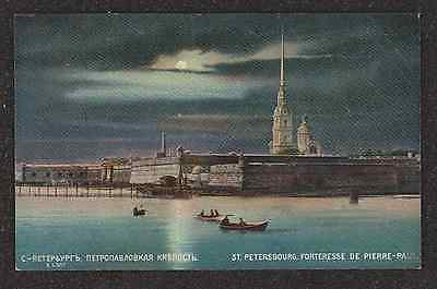 1910 Russia St. Petersburg Postcard Pierre Fortress Russie