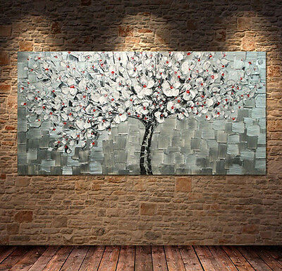 MODERN ABSTRACT WALL ART HAND PAINTED OIL PAINTING ON CANVAS (No Framed)