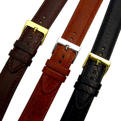 Verona XL Extra Long Padded Leather Watch Strap Band 3 colours 16mm - 24mm D012