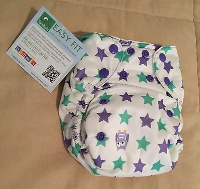 Tots Bots V3 Night Owl Print All In One AIO Cloth Diaper New With Tags HTF Print