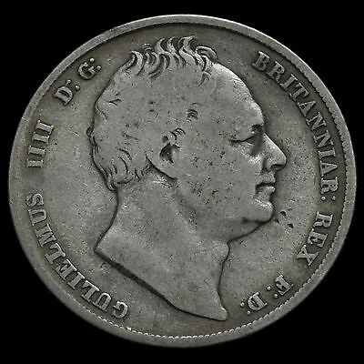 1837 William IV Milled Silver Half Crown – Scarce – Fine