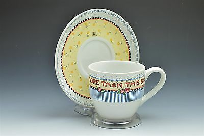 Mary Engelbreit Tea Cup And Saucer Nothing is Worth More Then This Day