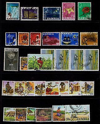 Zambia 1964 to 1980s - 32 stamps - Used