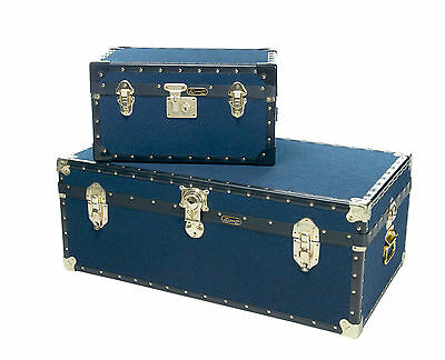 British Mossman Made Boarding School Cabin Chest - Luggage Case - Storage Trunks