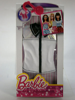 Mattel Barbie - Fashion - Casual Fashion Pack - White, Silver & Black Collared