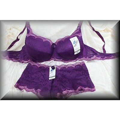 Edles Dessous BH Set Push-up und Panty in Lila Größe 36/80B