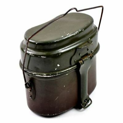 Original Polish Army mess kit. Aluminium military bowler pot