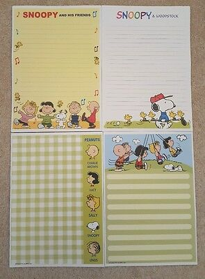 """40 Sheets of A5 """"Snoopy"""" Lined Writing Paper penpals"""