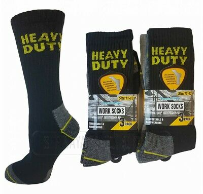 JCB MENS WORK SOCKS. SIZE: 6-11 , 3 , 6 and 12 pairs