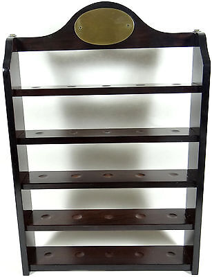 Bombay Shelf Cherry Wood Golf Ball Collector Shelves Miniature Display '94 Curio