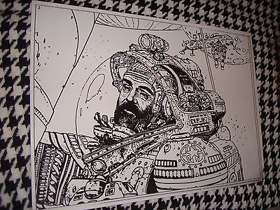 MOEBIUS ASTRONAUT MYSTERY in SPACE ADVERTISING PRODUCTION ART ACETATE
