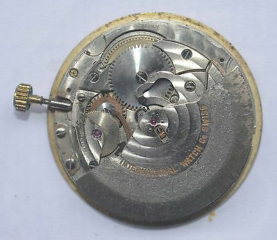 Vintage IWC SCHAFFHAUSEN, Movement & Dial, Cal C.8541B. For Parts Or Repairs