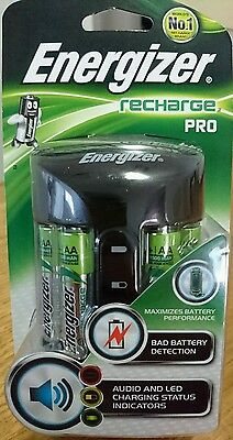 ENERGIZER RECHARGE PRO AA/AAA 4 AA RECHARGEABLE NiMH BATTERIES CAMERA TORCH GAME