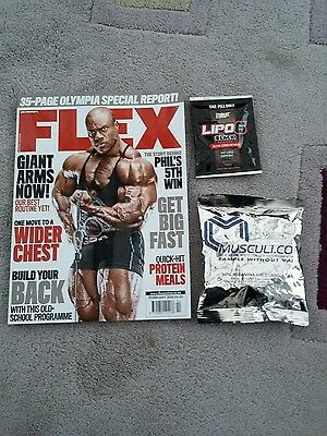 Flex bodybuilding magazine with 2 free samples Phil heath on the on cover